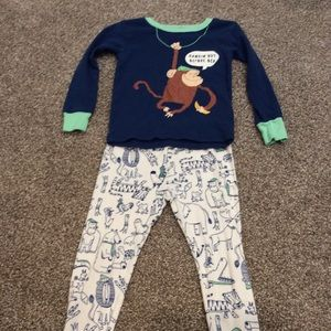 Carter's Two Piece Monkey Pajamas